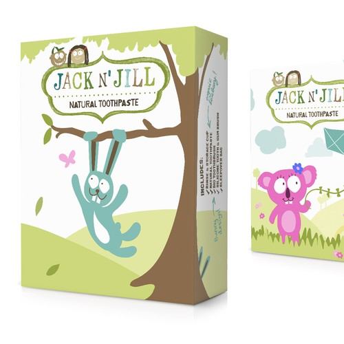 Cute packaging with the title 'Cute, natural gift box packaging'