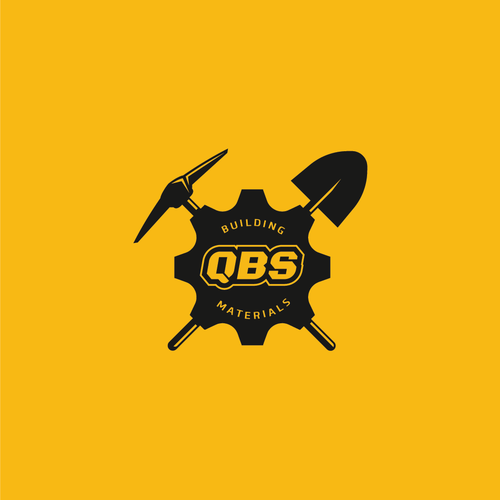 Axe logo with the title 'QBS Building Materials'