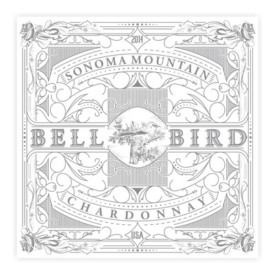 Bell Bird wine label