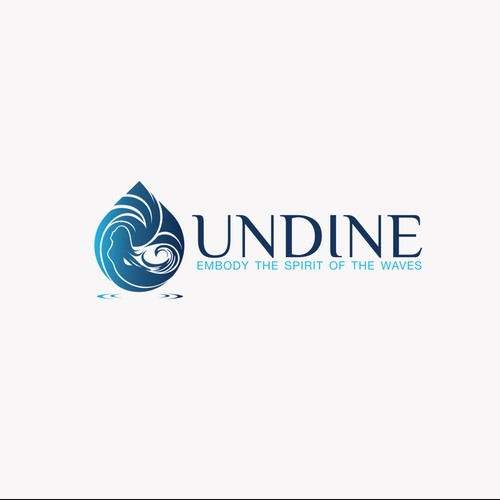 Woman design with the title 'Logo for Undine Apparel'