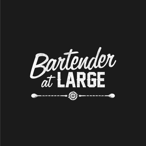 Cocktail logo with the title 'Logo design for the documentary film 'Bartender at Large''