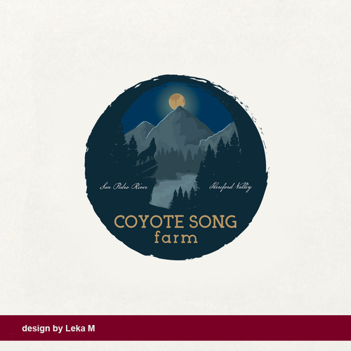 Valley design with the title 'Coyote song Farm'