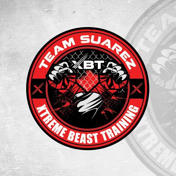 MMA logo with the title 'team suarez'