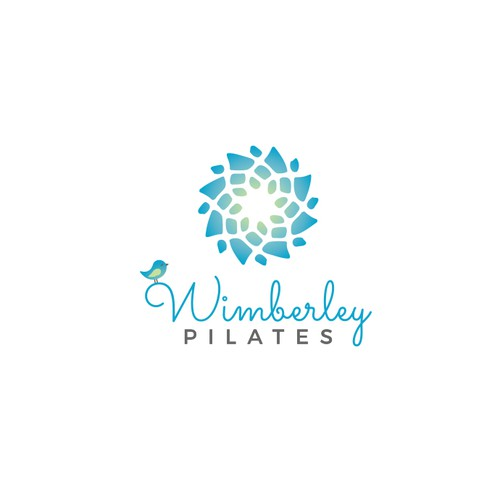 Pilates logo with the title 'Wimberley Pilates logo'