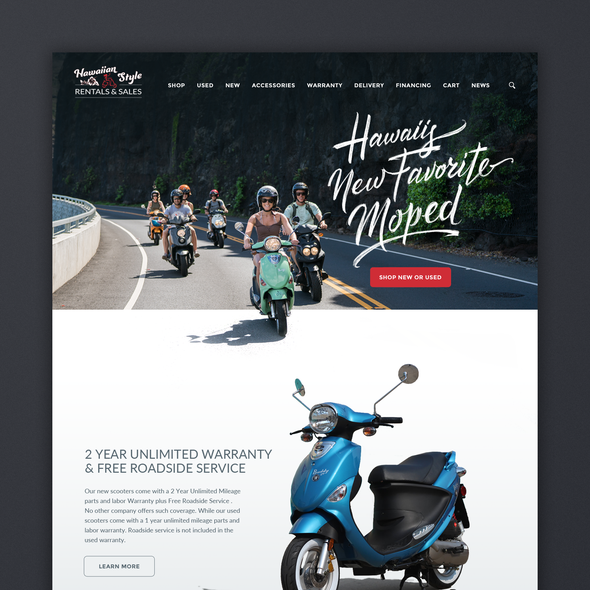 Scooter design with the title ' Scooter Sales Site'