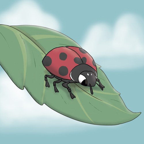 Card game artwork with the title 'Ladybug'