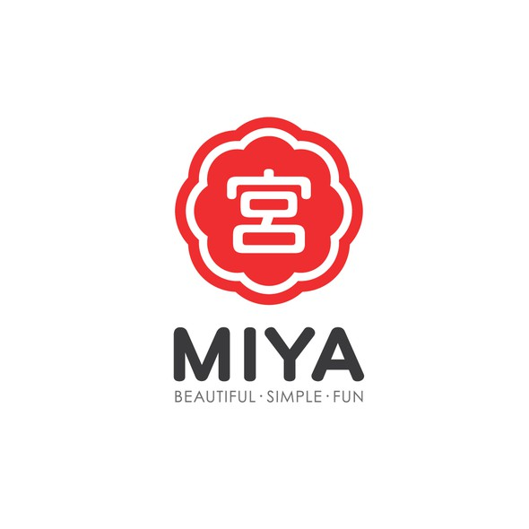 Tableware design with the title 'Miya Company'