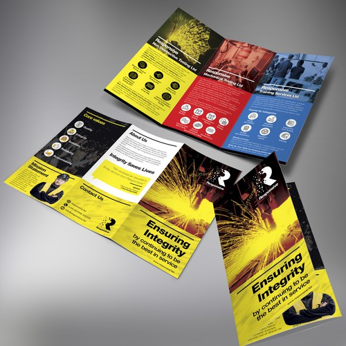 Industrial design with the title 'Responsive Tri-fold brochure'