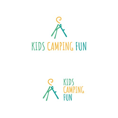 Kid logo with the title 'Kids Camping Fun '