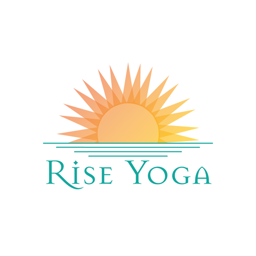 Overlapping logo with the title 'Shining Logo Concept for Yoga Studio'