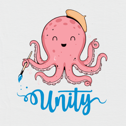 Cute t-shirt with the title 'Octopus'
