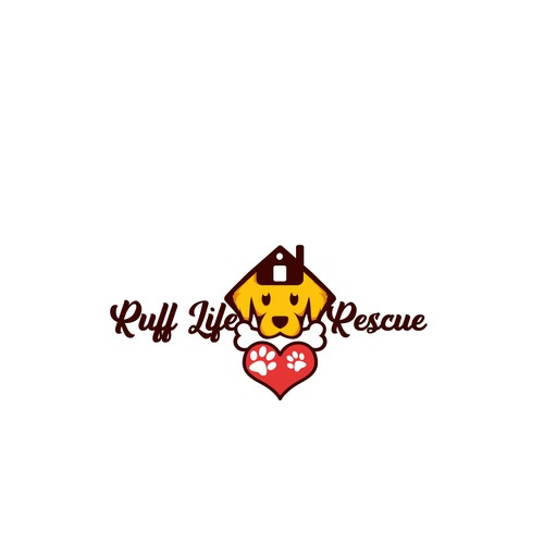 Cute dog logo with the title 'cute dog resque'