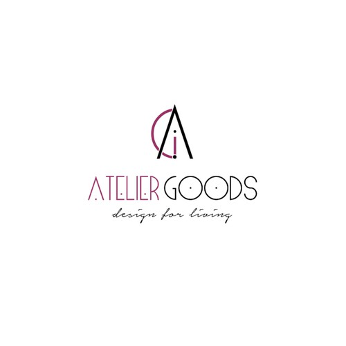 Atelier logo with the title 'Atelier logo design'