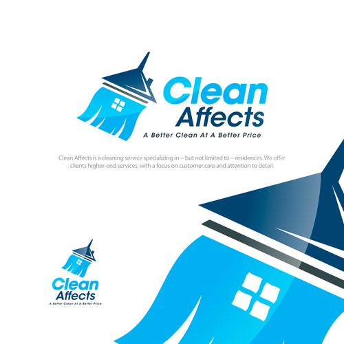 Happiness logo with the title 'Logo for cleaning service company'
