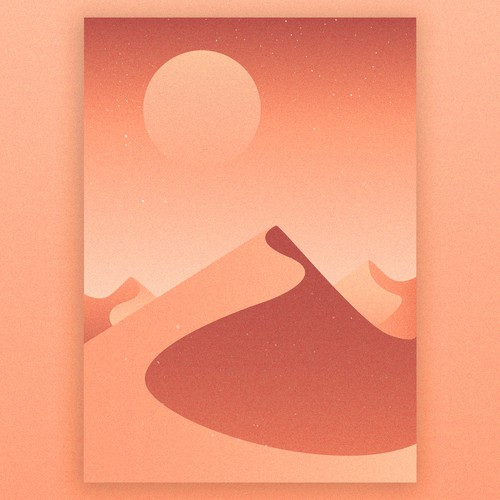 Grain design with the title 'Calming nature illustrations'