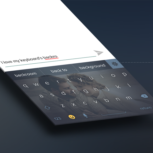 Theme design with the title 'Keyboard App'