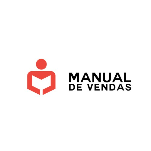 Manual design with the title 'manual de vendas'