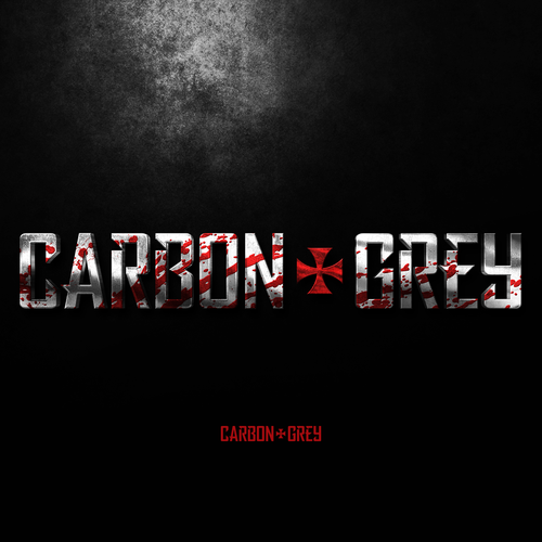 Gritty logo with the title 'Logo design for Carbon Grey'