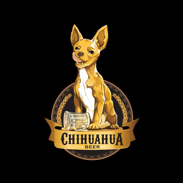 Chihuahua logo with the title 'Chihuahua Beer Logo'