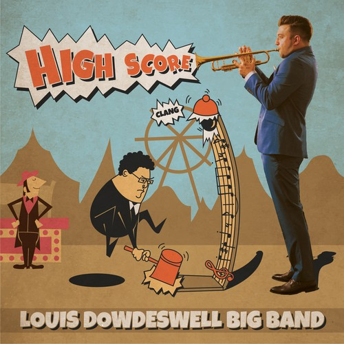 Funny artwork with the title 'Big band album cover'