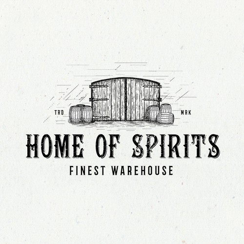 Whiskey logo with the title 'Logo design'
