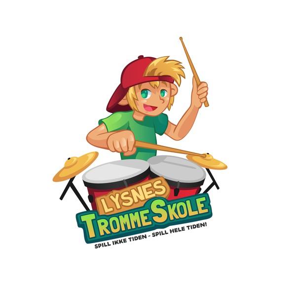 Blonde logo with the title 'Logo Design for Lysnes Trommeskole'