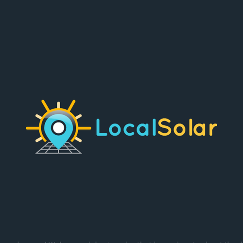 Solar energy logo with the title 'Logo design for a solar panel company'