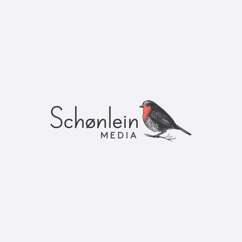 Media design with the title 'Robin design for Schønlein Media'