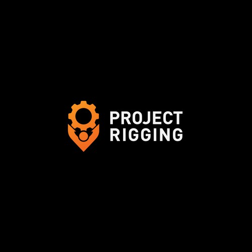 Pest control logo with the title 'Project Rigging Logo'