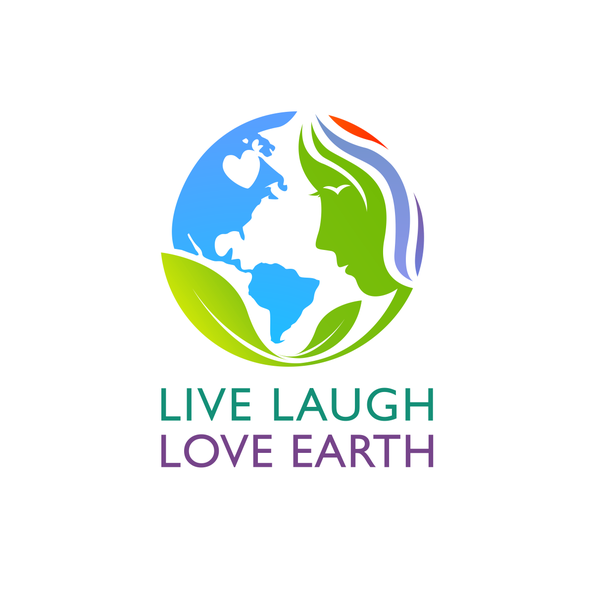 Donation logo with the title 'Live Laugh Love Earth'