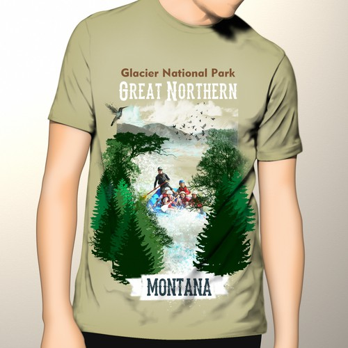 Landscaping t-shirt with the title 'Whitewater Rafting: An Adventurous T-Shirt'