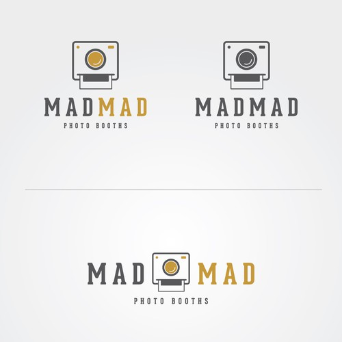 Photo-booth logo with the title 'MadMad logo'