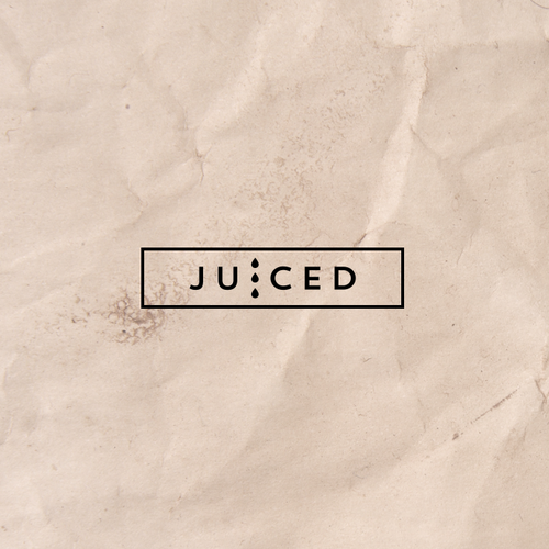 Raw design with the title 'Organic juice bar logo'