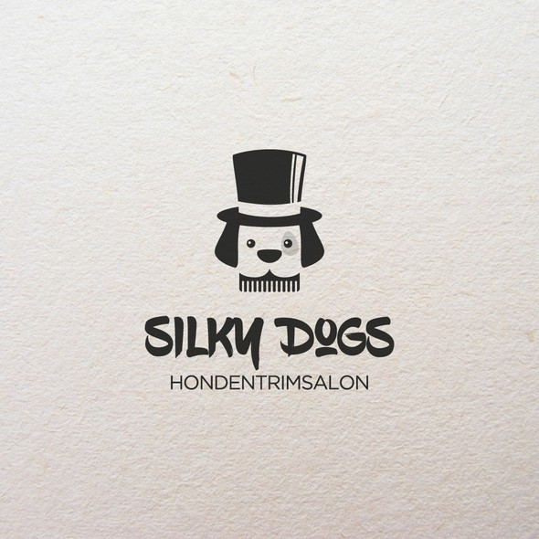 Dog grooming design with the title 'Dog Grooming Logo'