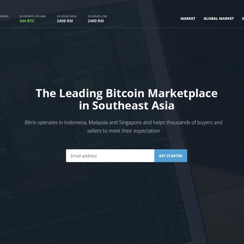 Dark website with the title 'Homepage for bitcoin marketplace'