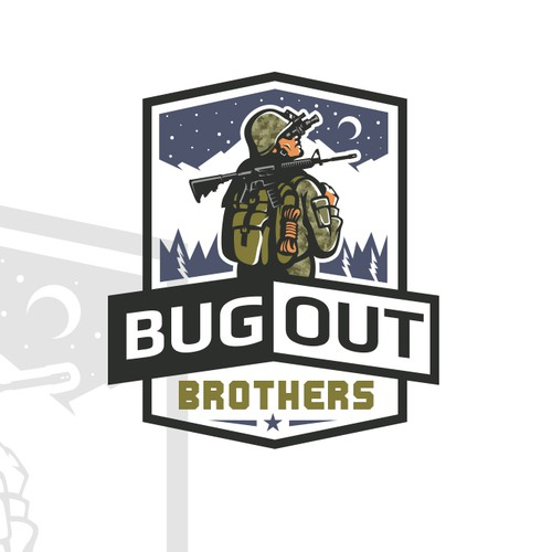 Commando logo with the title 'BugOut'