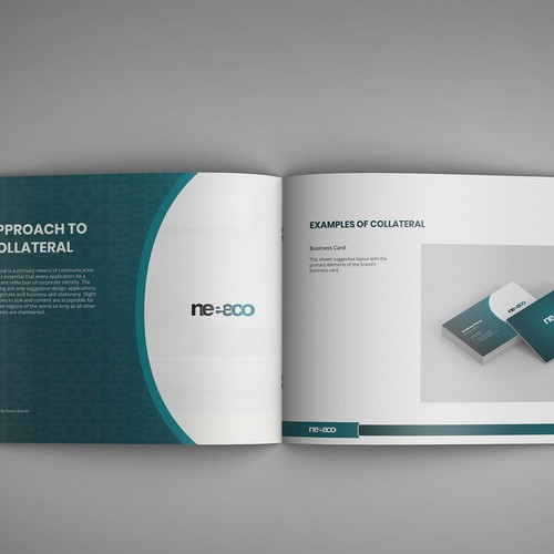 Energy design with the title 'Brand guide for energy business.'