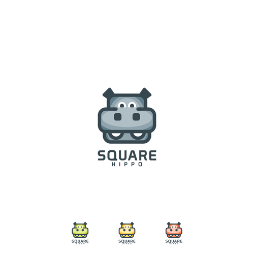 Hippo logo with the title 'Square Hippo'