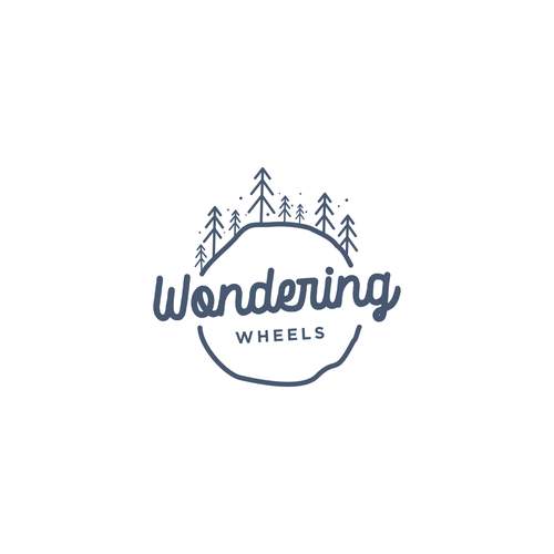 Caravan design with the title 'bold logo concept for wondering wheels'