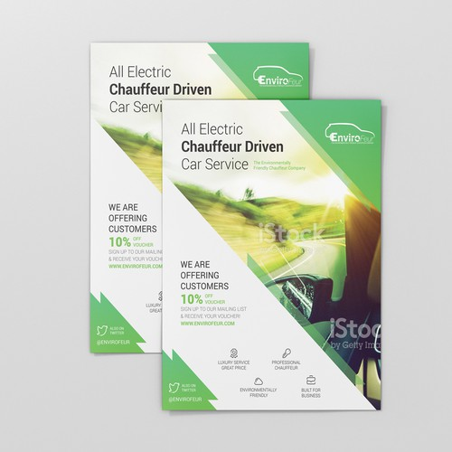 Driver design with the title 'Flyer Design for Envirofeur'