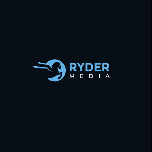 Dog house logo with the title 'Logo for RYDER MEDIA'
