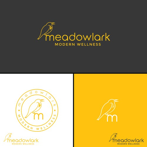 Sustainable logo with the title 'Meadowlark Modern Wellness'