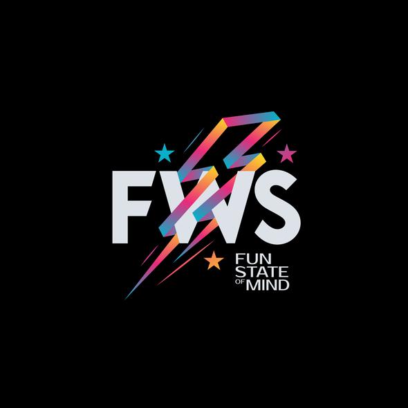 Thunderbolt logo with the title 'FWS Logo'