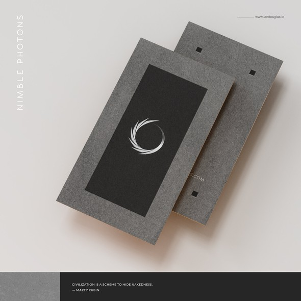 Nude design with the title 'Solar eclipse and business card for Bay area photographer'