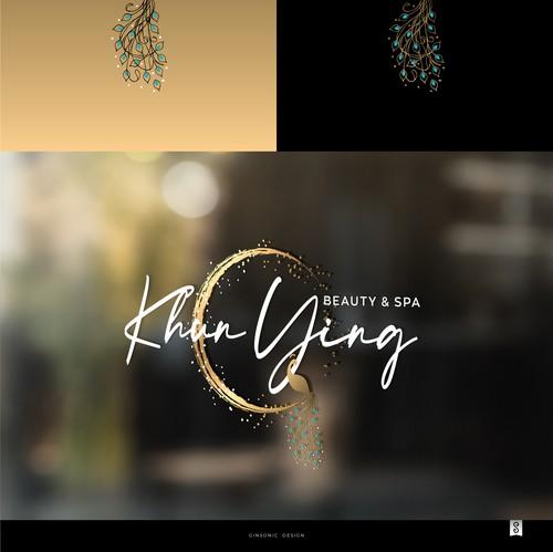 Nail polish logo with the title 'Khun Ying'