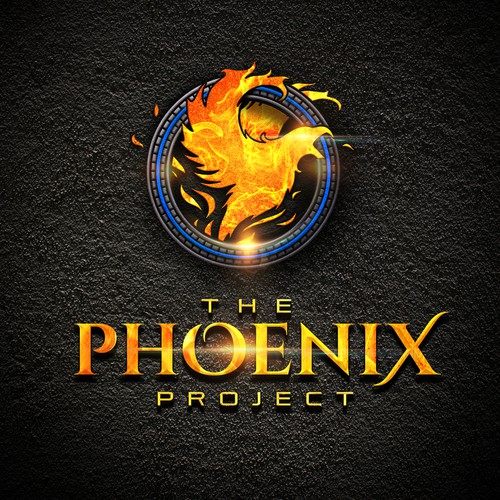 Textured design with the title 'THE PHOENIX PROJECT'