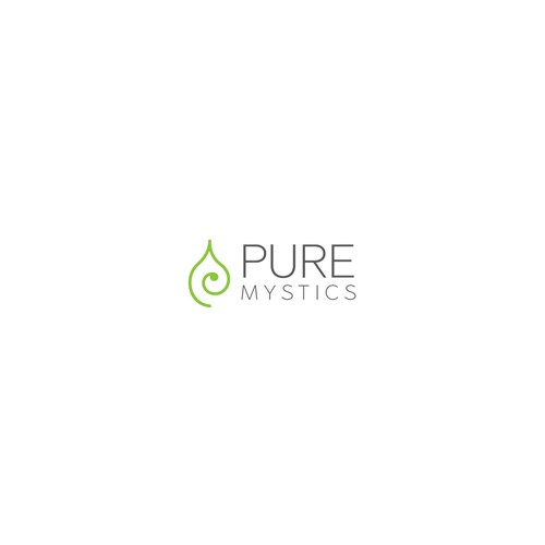 Peaceful logo with the title 'Elegant concept for pure mystics'