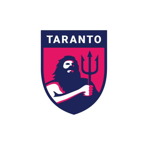 Greek mythology logo with the title 'Taranto Foodball Club'