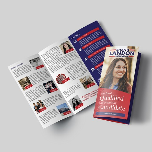 Campaign design with the title 'Tri-Fold Brochure'