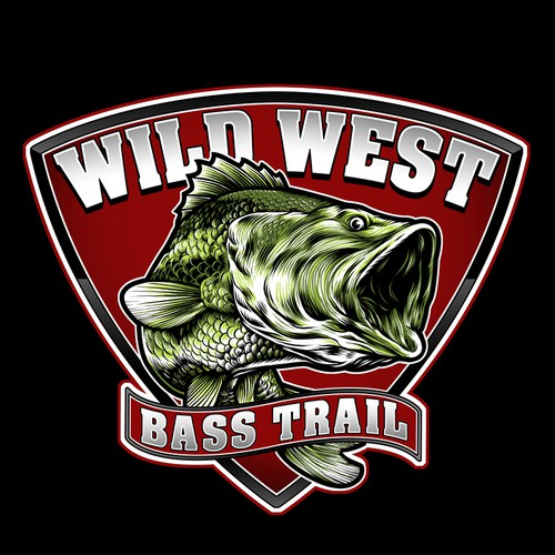 Fish design with the title 'Wild West Bass Trail'